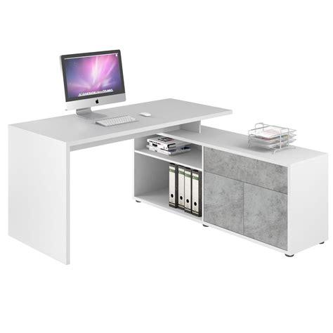bureau d angle blanc pas cher bureau angle pas cher largeur bureau eyebuy