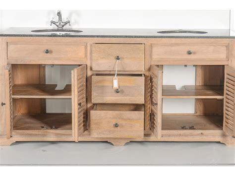 meubles de cuisine en bois brut a peindre meuble vasques en bois massif et marbre