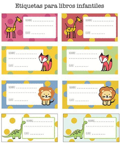 Dibujos para Colorear: Etiquetas de libros para imprimir