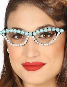 50er Jahre Accessoires : 50er jahre brille mit perlen f r damen g nstige faschings accessoires zubeh r bei karneval ~ Sanjose-hotels-ca.com Haus und Dekorationen