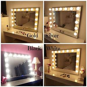 Ikea Hollywood Mirror With Lights Hollywood Lighted Vanity Mirror Large Makeup Mirror With