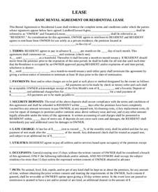 Rental Lease Agreement Form