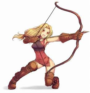 anime archer girl | Archers specialize in the use of bows ...