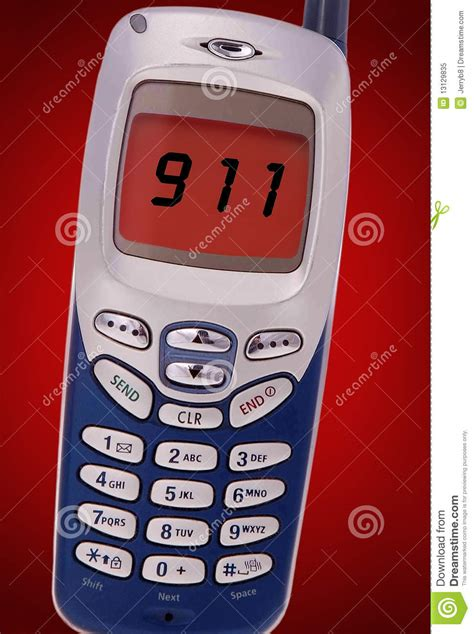 call my cell phone free 911 call on cell phone stock image image of phone