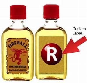 whisky stones fireball whisky mini 50 ml with custom With custom fireball label