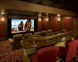 English Pub Home Theater - Traditional - Home Theater