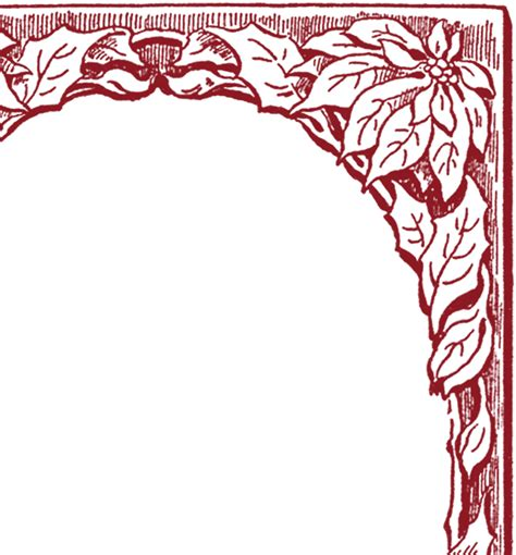 poinsettia frame images  graphics fairy