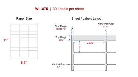 address labels our wl 875 same size as avery 174 5160 8160