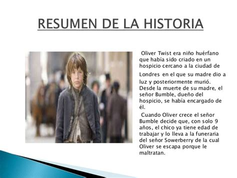 Oliver Twist Resumen Por Capitulos by Oliver Twist