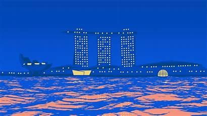 Marina Bay Singapore Sands Apple Architecture Nightlife