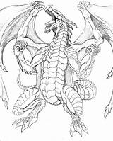 Coloring Pages Dragon Flying sketch template