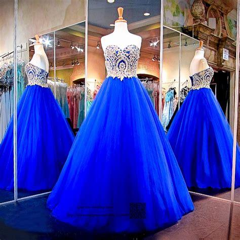 modest royal blue gold lace cheap quinceanera dresses ball
