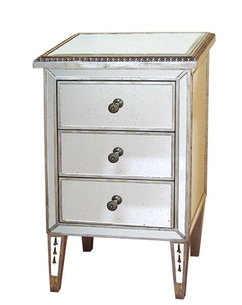 mirrored end tables nightstands antiqued mirrored nightstand end table 18 quot x30 quot h