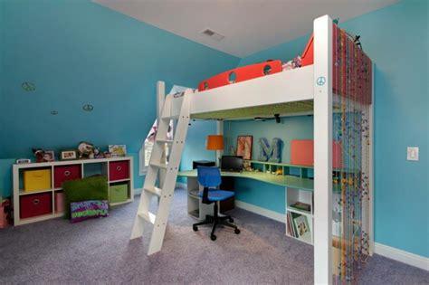 amenager chambre pour 2 filles lit mezzanine pour une chambre d ado originale design feria