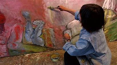 Giphy Painting Painter Artist Gifs Contemporary Paint