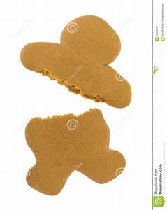 Blank Gingerbread Man Cookie Broken Stock Photo - Image ...