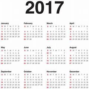 2017 Calendar Transparent PNG Clip Art Image | Clipart ...
