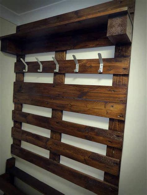 hallway pallet coat rack  shoe rack  pallets