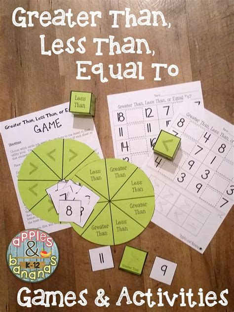 greater    equal  games  activities