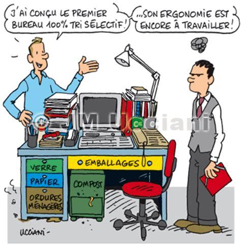 bureau humour jm ucciani dessinateurprojet pour le tri sélectif au