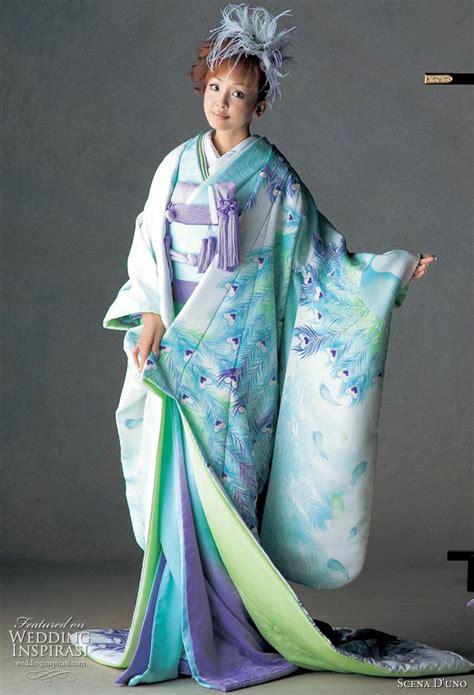 colorful wedding kimono  scena duno  wedding