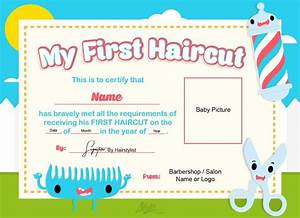 haircut gift certificate template - first haircut certificate baby haircut certificate 8x10