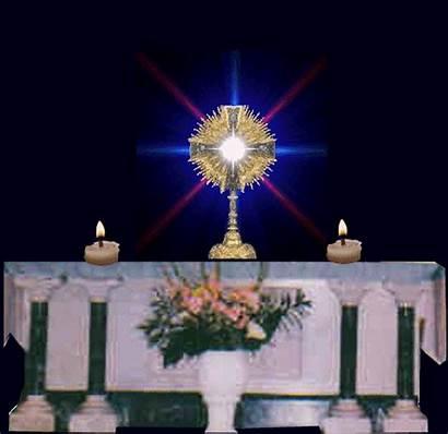 Santisimo Eucaristia Velas Altar Bendita Jesus Jueves