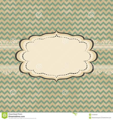vintage card design stock vector image  decorative