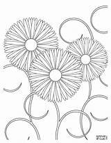 Coloring Pages Flower Flowers Adults Printable Adult Detailed Spring Print Homemadegiftguru Fun Sheets Easy Printables Cool Mandala Looking Colouring Floral sketch template