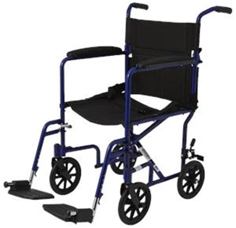 invacare probasics 17 inches aluminum transport chair