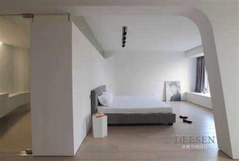 Sky Villa In Nanjing by Futuristic Design Futuristic Bedroom Entrance Sleek White