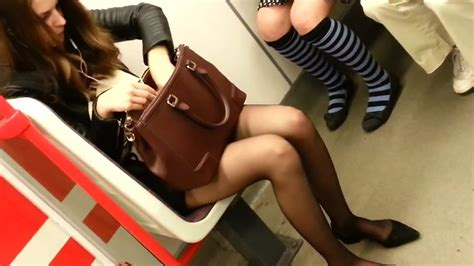 Candid Sexy Pantyhose Women In Subway 215 Free Hd Porn 52