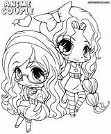 Anime Couple Coloring Pages Print Colorings sketch template