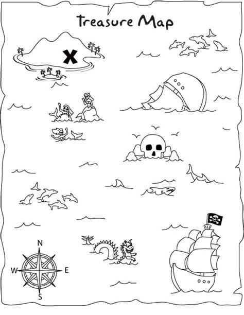 Kleurplaat Piraten Schatkaart kleuren nu lastige schatkaart kleurplaten