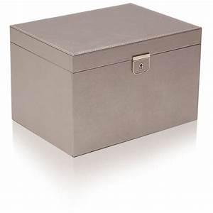 Boite A Bijoux Cuir : large boite bijoux cuir etain gris palermo wolf ocarat ~ Teatrodelosmanantiales.com Idées de Décoration
