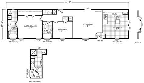 Northwood 16 X 64 987 Sqft Mobile Home