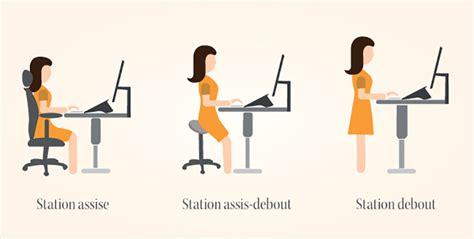 bureau position debout travailler assis debout quels effets sur ma santé azergo