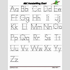 It Is Free!!!!! Alphabet Letter Writing Chartuse These Charts With Your Students To Demonstrate