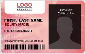 Ms Word Templates Letterhead Security Guard Officer Photo Id Badges For Ms Word Word