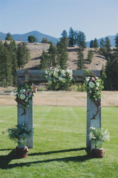 outdoor montana wedding mackenzie taylor rustic