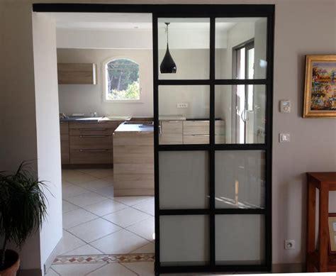 cuisine vitr馥 atelier emejing porte de separation coulissante pictures amazing house design getfitamerica us
