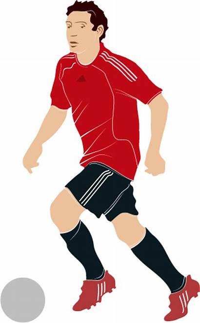 Player Football Vector Clipart Soccer Clip Vectors