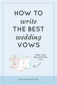 wedding vow examples With vow writing template