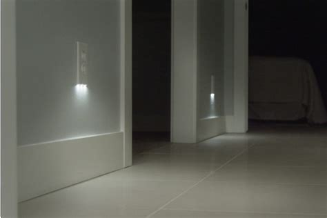 built in wall night light outlet covers with built in led night lights simplemost
