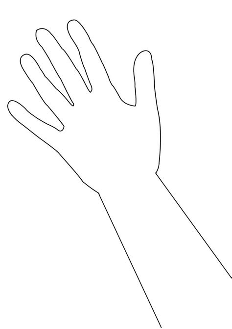 arm template outline gclipart