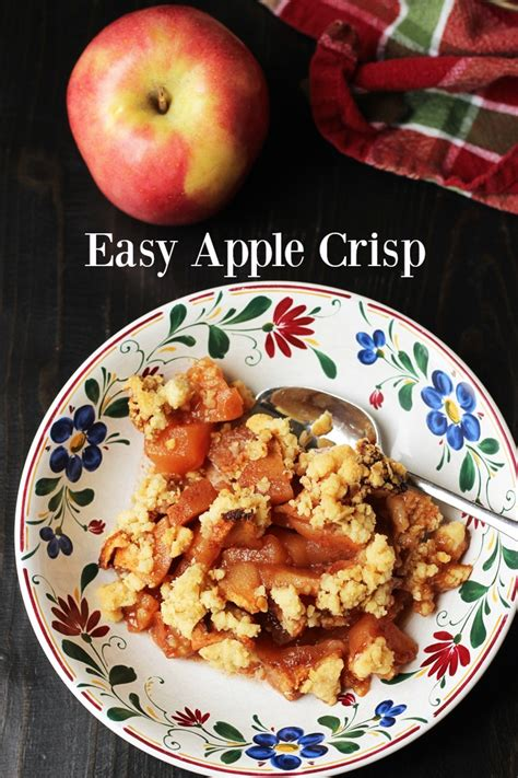 and easy apple recipes easy apple crisp recipe dishmaps