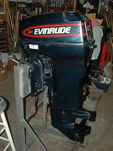 1998 40 Hp Evinrude With Power Tnt Super Clean