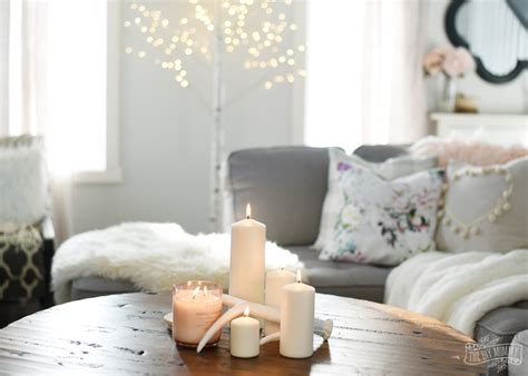 create  cozy hygge living room  winter