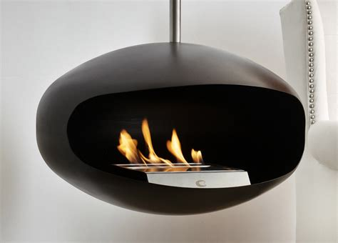 cocoon aeris hanging fireplace cocoon fires bioethanol