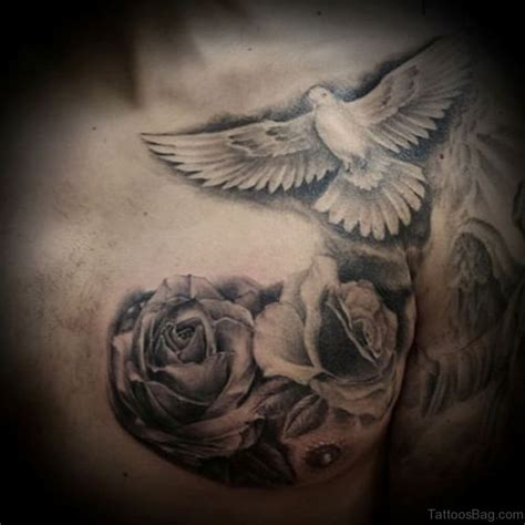 ultimate dove tattoos  chest